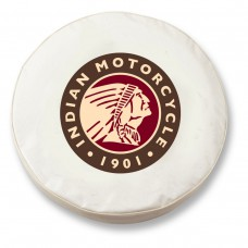 Indian Motorcycle White Tire Cover
