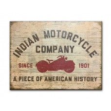 Indian Motorcycle Red Motorcycle Silhouette Sign