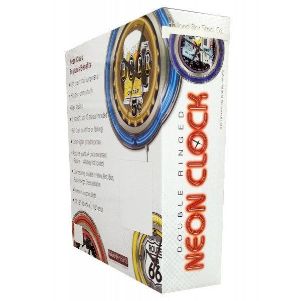 Indian Motorcycle Head Logo 15 Neon Clock Packaging