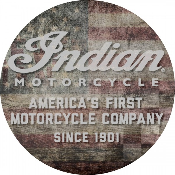 Indian Motorcycle American Flag Cushion Top