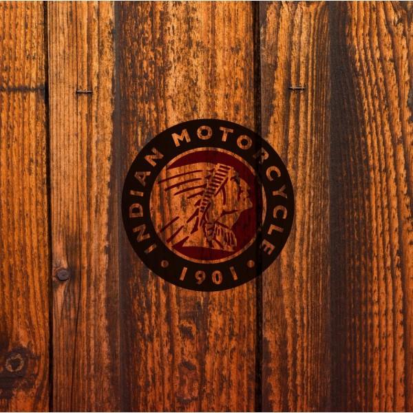 Indian Motorcycle Barn Wood Seat Cushion Flat