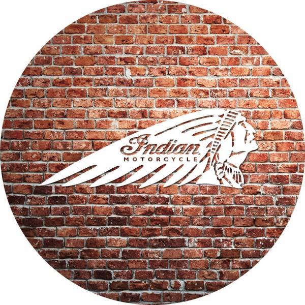 Indian Motorcycle Brick Wall Cushion Flat