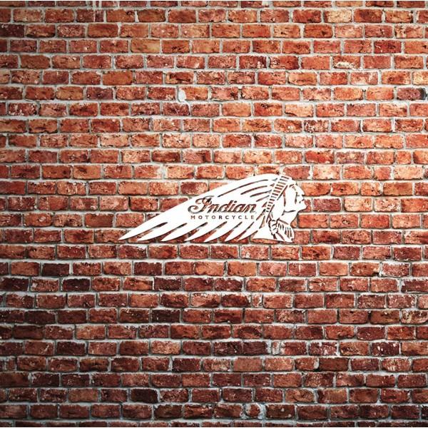 Indian Motorcycle Brick Wall Seat Cushion flat