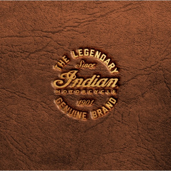 Indian Motorcycle Brown Leather Seat Cushion Flat