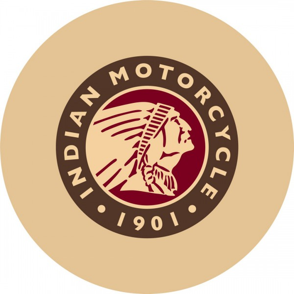 Indian Motorcycle Head Logo Bar Stool top