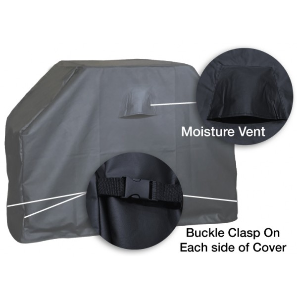 Indian Motorcycle Grill Cover Moisture Vent and Buckle Clasps