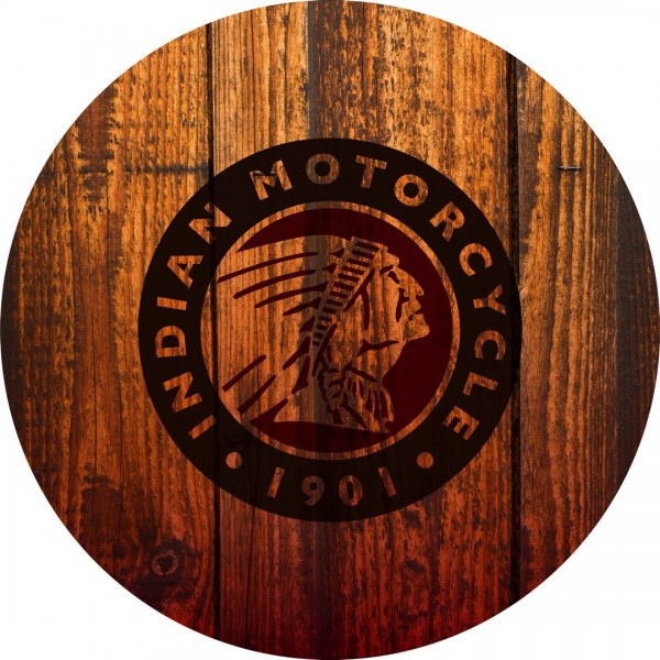 Indian Motorcycle Barn Wood Seat Cushion Flat