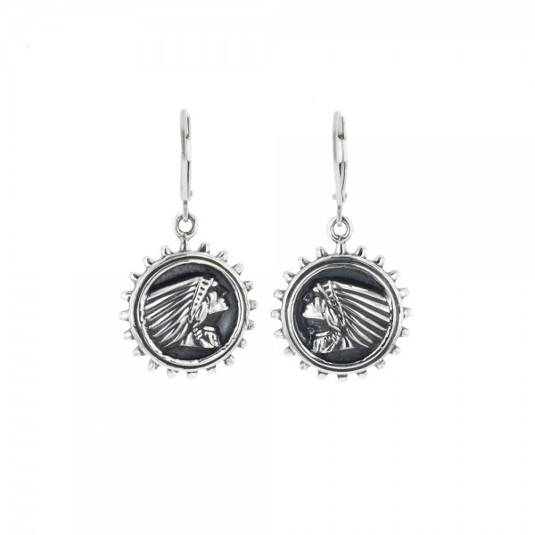 Indian Headdress Gear Earrings