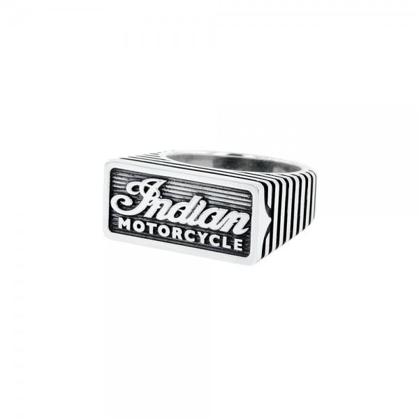 Indian Script Motor Fin Silver Ring