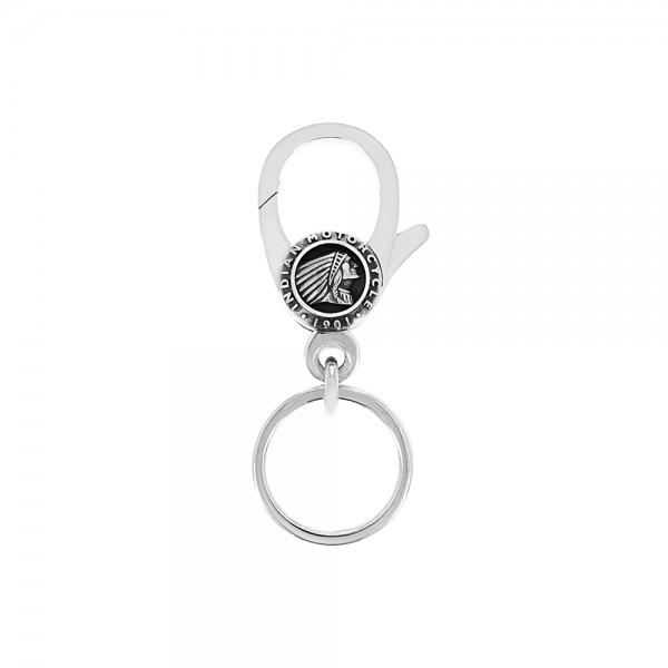 Key Fob w/ Silver Indian Headdress Logo Clip
