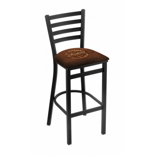Indian Motorcycle Brown Leather L004 Stationary Bar Stool