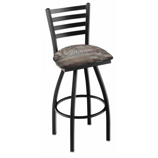 Indian Motorcycle Holland Bar Stool L014 with American Flag