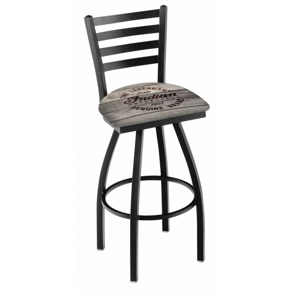 Indian Motorcycle L014 Bar Stool with Engraved Wood
