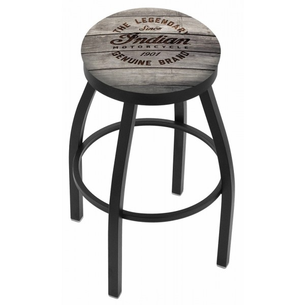 Indian Motorcycle L8B2B Bar Stool with Engraved Wood