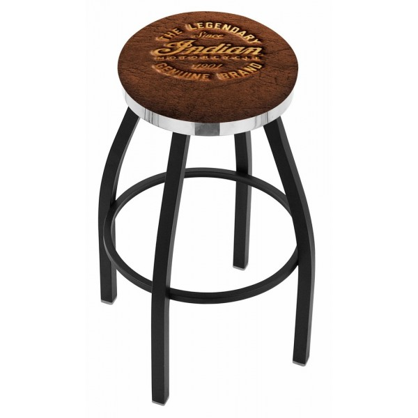 Indian Motorcycle L8B2C Bar Stool with Brown Leather