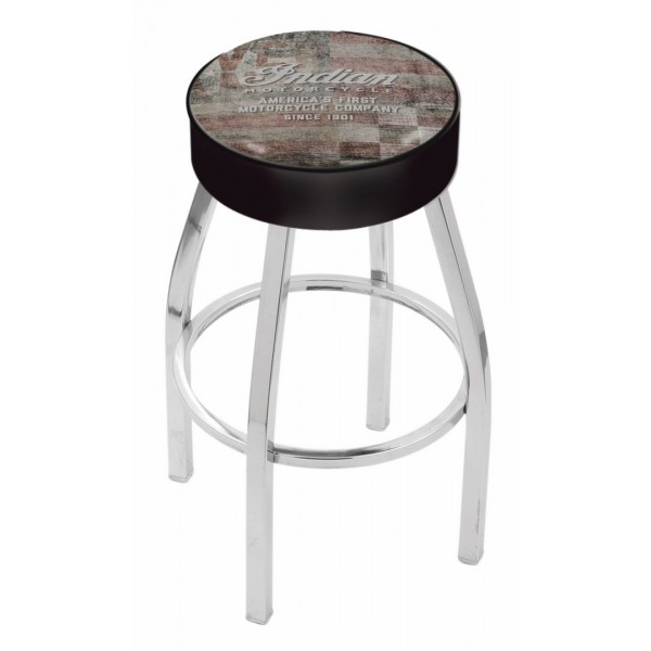 Indian Motorcycle Holland Bar Stool L8C1 with American Flag