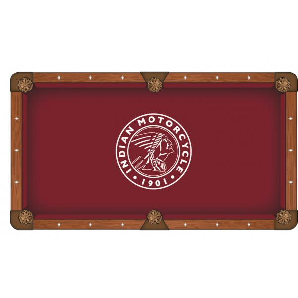 Indian Motorcycle Logo Pool Table Cloth