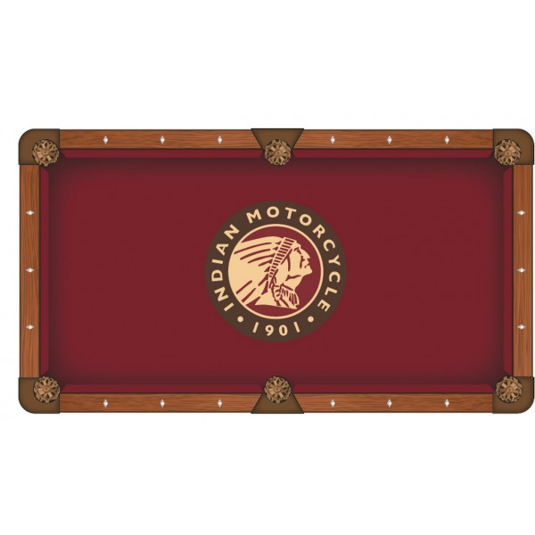 Indian Motorcycle Head Logo Pool Table Cloth