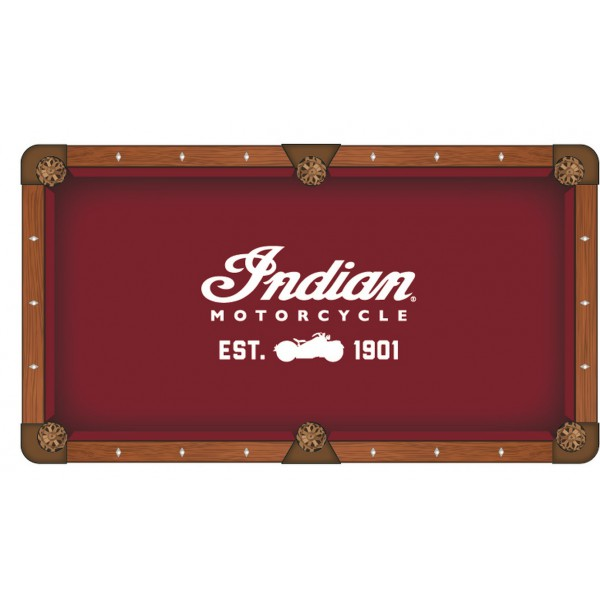 Indian Motorcycle Script Logo Pool Table Cloth
