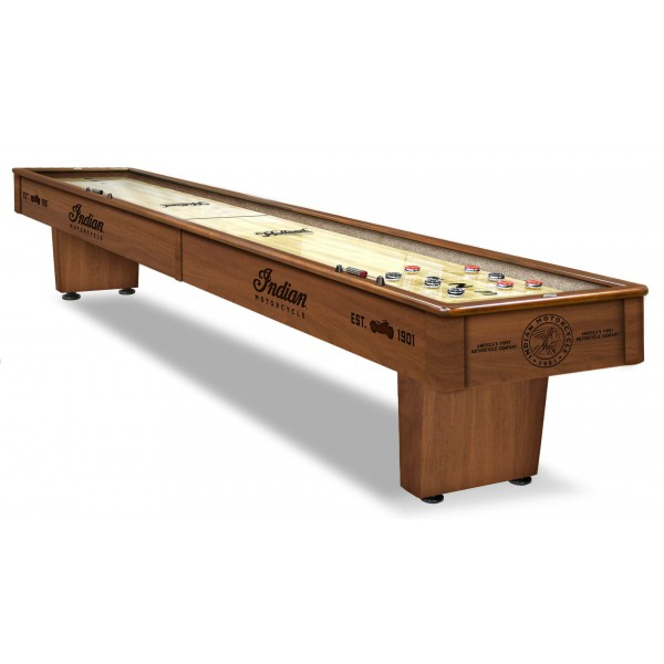 Indian Motorcycle Laser Engraved Shuffleboard Table