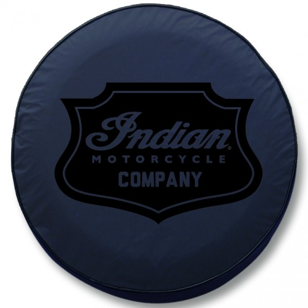 Indian Motorcycle Black Shield Badge Tire Cover