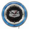Indian Motorcycle Metal Shield Blue Neon Clock
