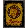 Indian Motorcycle Rustic Sign Printed Canvas Art