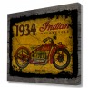 Indian Motorcycle Series 402 Rustic Sign Printed Canvas