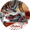 Indian Motorcycle Red Collage L211 Pub Table