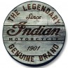 Indian Motorcycle Legendary Motto on Distressed Wood Tire Cover